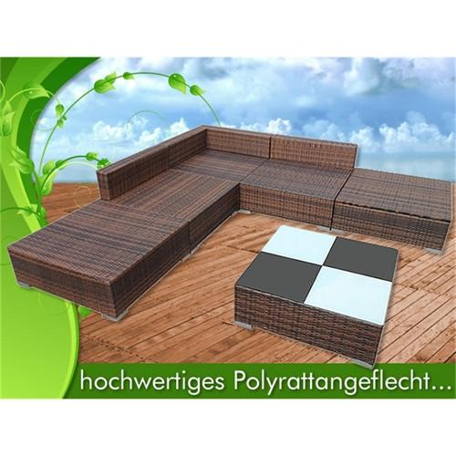 polyrattan gartenm bel set sitzm bel rattanm bel lounge. Black Bedroom Furniture Sets. Home Design Ideas