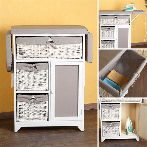 2 in 1 kommode b geltisch b gelbrett inkl k rben wei. Black Bedroom Furniture Sets. Home Design Ideas