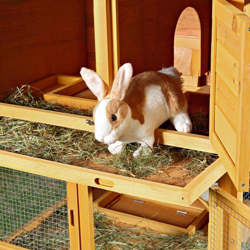 hasenstall holz kaninchenstall freilaufgehege stall 6 boxen kleintierstall hasen ebay. Black Bedroom Furniture Sets. Home Design Ideas