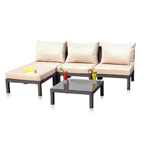 Obi Gartenmobel Auflagen : Polyrattan Lounge Sitzgarnitur Sitzgruppe Gartenmöbel Gartenlounge