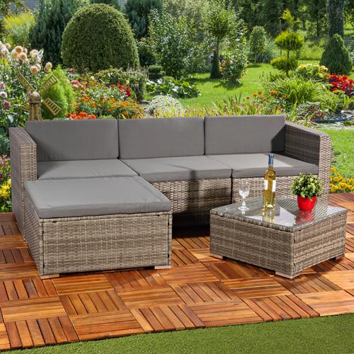 rattan loungeliege grau gartenbank relaxsessel sitzgruppe lounge sitzm bel ebay. Black Bedroom Furniture Sets. Home Design Ideas