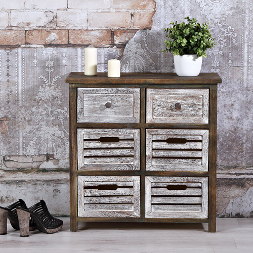 kommode holz wandschrank stehregal lowboard shabby chic. Black Bedroom Furniture Sets. Home Design Ideas