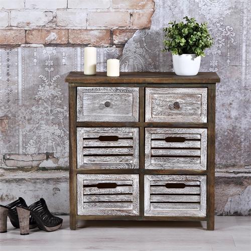 kommode holz wandschrank stehregal lowboard shabby chic hochregal braun ebay. Black Bedroom Furniture Sets. Home Design Ideas