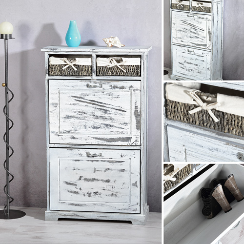 shabby chic schuhkommode schuhschrank dielen flur schrank schuhregal regal. Black Bedroom Furniture Sets. Home Design Ideas