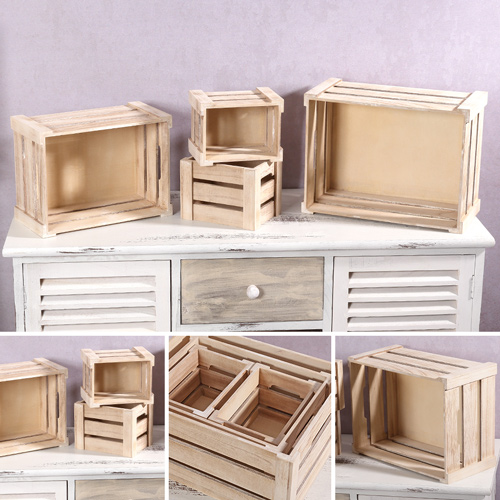 4x holzkiste aufbewahrungskiste weinkiste holztruhe kiste flaschenkiste box holz ebay. Black Bedroom Furniture Sets. Home Design Ideas