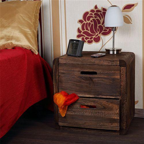 Nachtkommode Nachtschrank Schlafzimmer + Schubladen Holz weiß ...