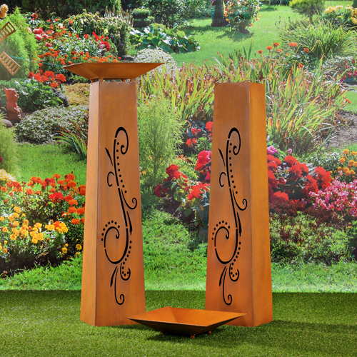 Edelrost garten deko pflanzgef dekos ule rost - Decoration metal pour jardin ...