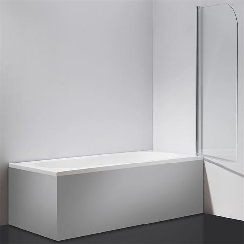 140 cm glas duschabtrennung badewannenaufsatz badewanne badewannenfaltwand ebay. Black Bedroom Furniture Sets. Home Design Ideas