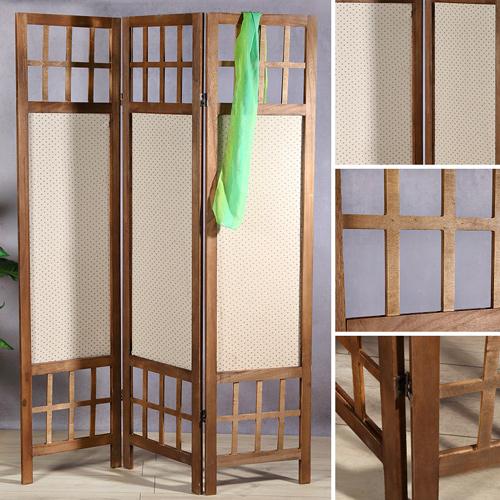 Trennwand Aus Holz Im Schlafzimmer: 3fach Paravent Aus Holz Trennwand Spanische Wand