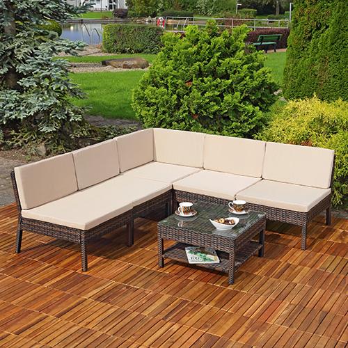 garten lounge relaxsessel in braun polyrattan gartenm bel. Black Bedroom Furniture Sets. Home Design Ideas