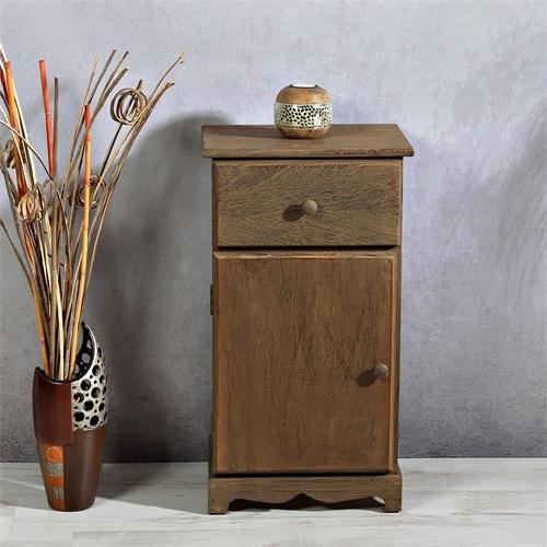 nachttisch mit schubladen tisch regal dunkelbraun. Black Bedroom Furniture Sets. Home Design Ideas