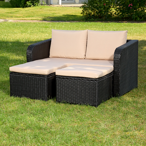 poly rattan gartenset rattanm bel lounge sitzgruppe garten essgeruppe ebay. Black Bedroom Furniture Sets. Home Design Ideas