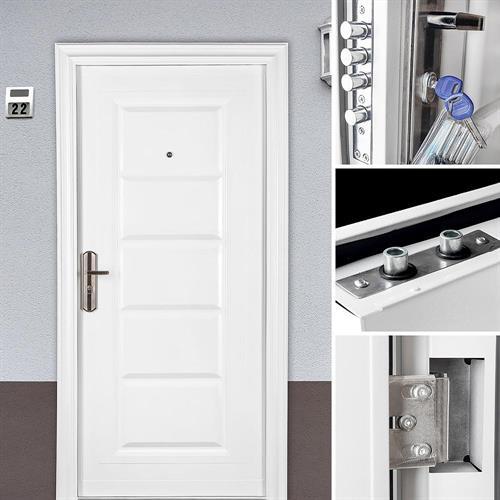 U Wert Eingangstür: DIN LINKS Hauseingangstür Weiß Kellertür Garagentür