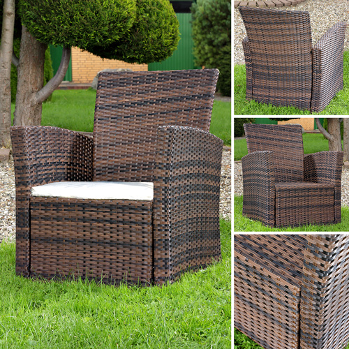 lounge sessel aus poly rattan garten terrassen sessel. Black Bedroom Furniture Sets. Home Design Ideas