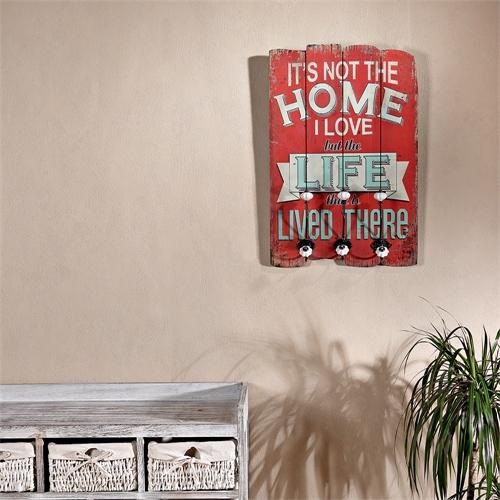 vintage flurgarderobe 3 kleiderhaken aus holz. Black Bedroom Furniture Sets. Home Design Ideas