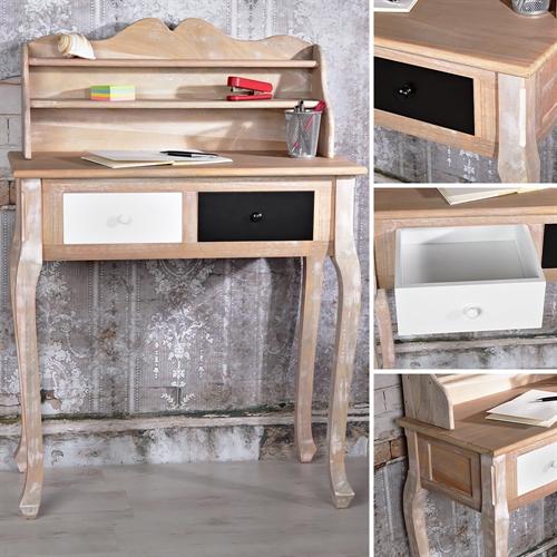 schreibtisch sekret r mit regal wei kaufen auf. Black Bedroom Furniture Sets. Home Design Ideas