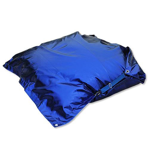 leder sitzsack metallic optic sitzkissen bodenkissen sessel 150x140 cm ebay. Black Bedroom Furniture Sets. Home Design Ideas