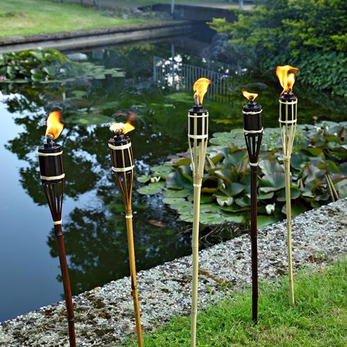 bambusfackel bambus fackel gartenfackel garten petroleum. Black Bedroom Furniture Sets. Home Design Ideas