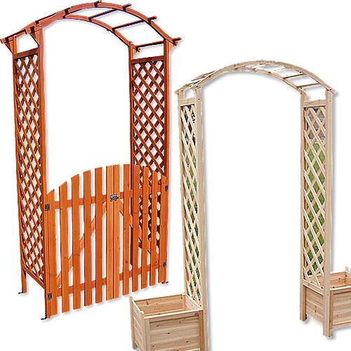 Détails sur Tuteur arc de rose bois + porte arcade pergola treille