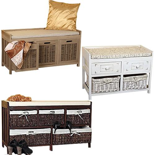 kommode shabby landhaus sitzbank banana leaf weidenk rbe. Black Bedroom Furniture Sets. Home Design Ideas
