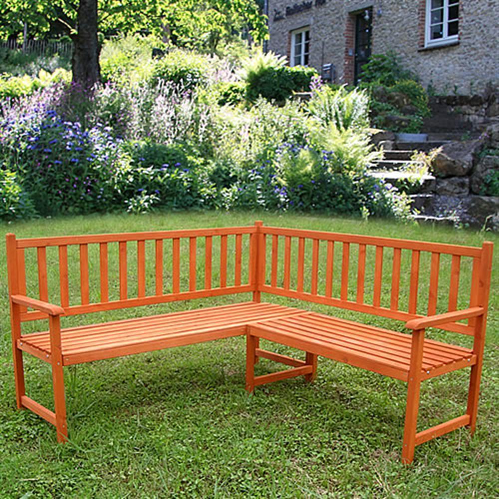 Holz ECKBANK Gartenbank Sitzbank Bank Parkbank Garten Sitzgruppe