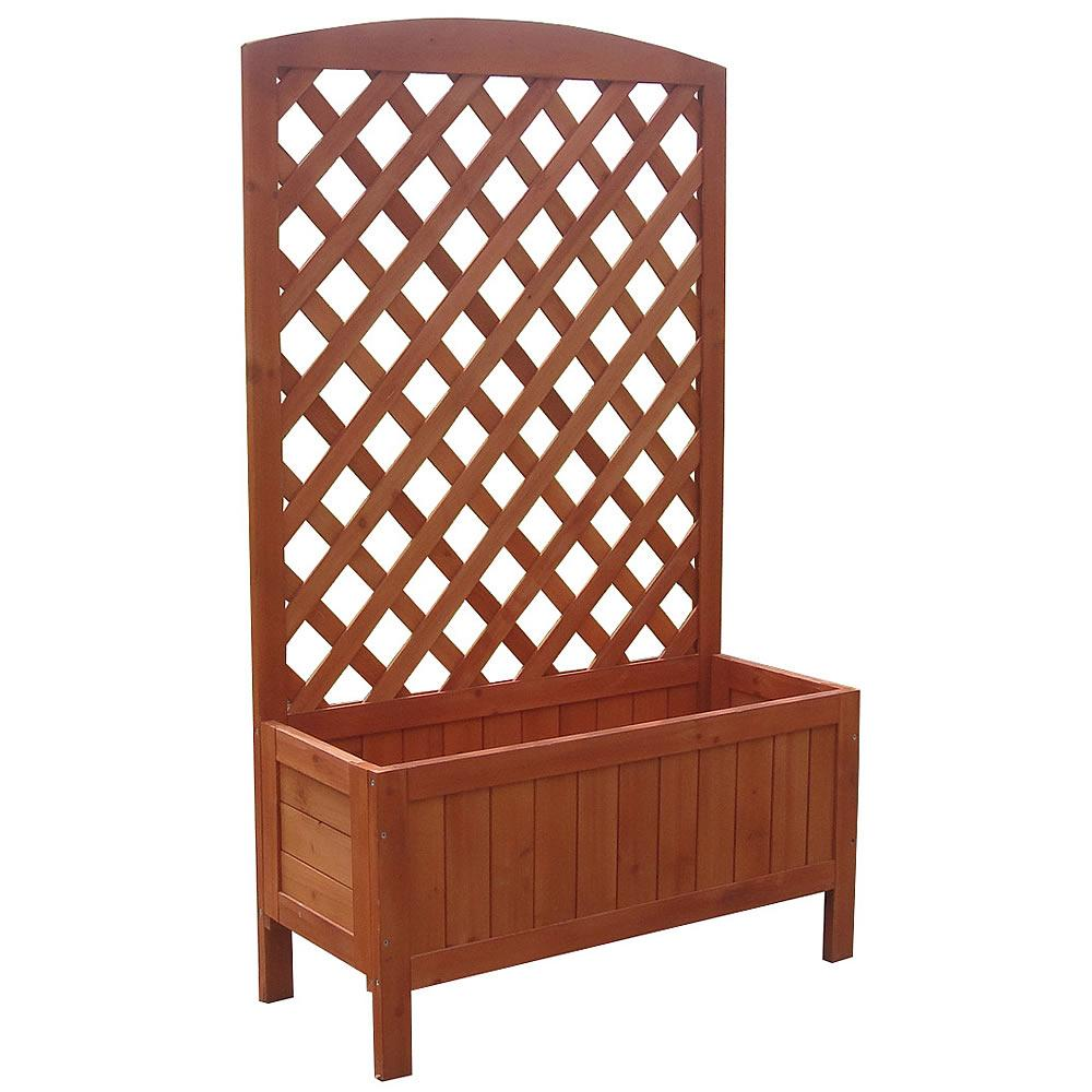 rankkasten pergola blumenst nder rankhilfe blumenkasten holz. Black Bedroom Furniture Sets. Home Design Ideas