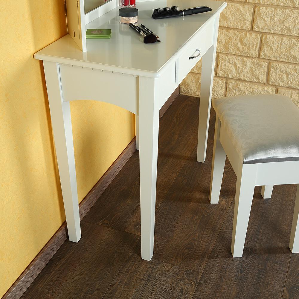Toletta make up trucco casa bianco com specchiera - Specchio make up professionale ...