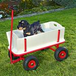 XXL Hand Cart Transport Trolley Wagon Plus Seat Area Pic:3