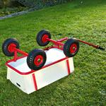 Bollerwagen Holz mit roter Plane Pic:4