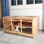 Villa Hamster Rodent House Mouse Habitat Small Animal Rat Cage Wood