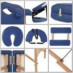 Aluminium 3 Zones Mobile Portable Folding Massage Table Couch Sofa Blue + Bag Pic:2