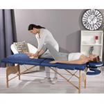 Aluminium 3 Zones Mobile Portable Folding Massage Table Couch Sofa Blue + Bag Pic:1