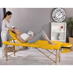 3 Zones Portable Massage Table Beauty Couch Bed Yellow incl. Bag Pic:1
