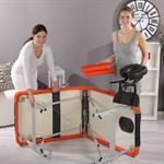 Aluminium 3 zones Mobile Portable Massage Table Couch Sofa Black/Orange + Bag Pic:6