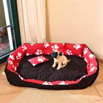 3-Piece XXL Dog/Cat Animal Pet Sofa Cushion Mat Basket Bed+Filling Red