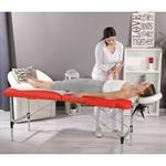Aluminium 2 Zones Massage Table Bed Counch Alu Bank White/Red only 12.5 KG Pic:1