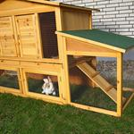 XXL Bunny Rabbit/Guinea Pig Pet Hutch Double 2 Tier House Cage Pen Pic:1