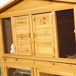 XXL Bunny Rabbit/Guinea Pig Pet Hutch Double 2 Tier House Cage Pen Pic:2