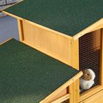 XXL Bunny Rabbit/Guinea Pig Pet Hutch Double 2 Tier House Cage Pen Pic:3