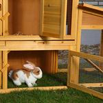 XXL Bunny Rabbit/Guinea Pig Pet Hutch Double 2 Tier House Cage Pen Pic:5