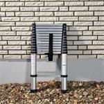 3.8 m Universal Telescopic Ladder Alu Aluminium Foldable Extendable Steps
