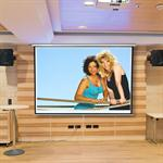 Home Cinema Wall Projection Screen Roller Projector HDTV 244X182cm 16:9