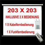 MOTOR + FFB LEINWAND BEAMER HEIMKINO 244X182