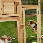 Rabbit Hutch Rabbits Bunnies Cage Small Pet Hutch Rabbit Cage Pic:1