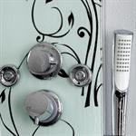 Glass Shower Panel 6 Massage Jets incl. Rain Shower Column + Mounting Set System Pic:4