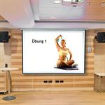 Motorised Home Cinema Projector Screen HDTV Wall Projection + Remote 244X182CM