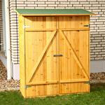 XXL Wooden Outdoor Garden Utility Tools Storage Cabinet Shelf Box Shed+2 Doors
