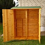 XXL Wooden Outdoor Garden Utility Tools Storage Cabinet Shelf Box Shed+2 Doors Pic:1