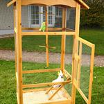 Large Outdoor Bird Aviary House Cage Breeding Coop Wood/Wire Pic:3