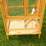 Large Outdoor Bird Aviary House Cage Breeding Coop Wood/Wire Pic:4